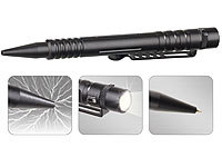 VisorTech 4in1-Tactical Pen mit Kugelschreiber, LED-Licht, Glasbrecher