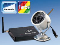 VisorTech Funk-Videoüberwachungs-Set 2.4 GHz mit CCD-Kamera (refurbished)